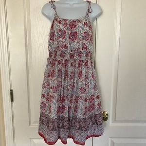 American Eagle floral dress cinched waist